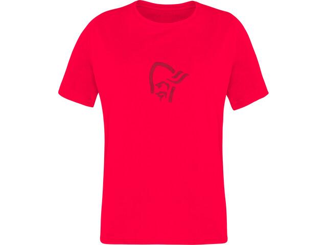Norrøna /29 Viking Baumwoll T-Shirt Kinder crisp ruby